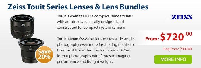 Adorama - Zeiss Touit Series Lenses 20% Off
