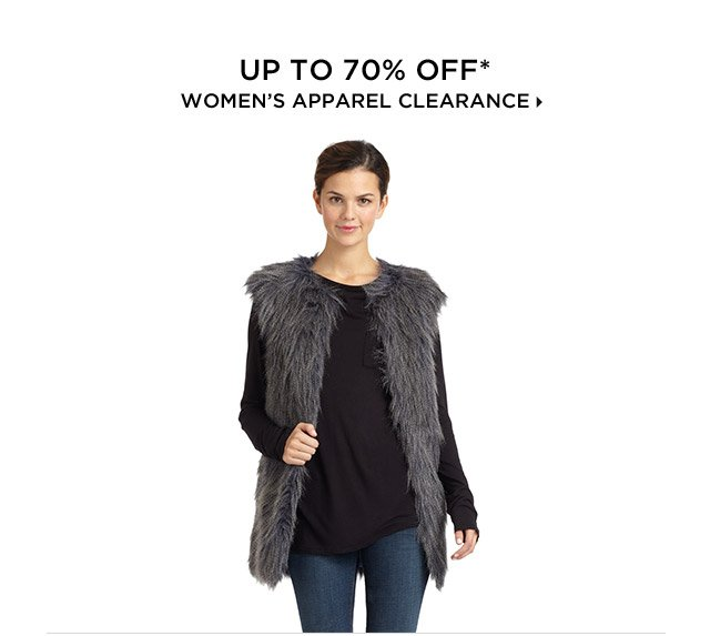 Up To 70% Off* Women's Apparel Clearance