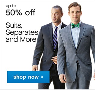 50% off Suit Seperates and More