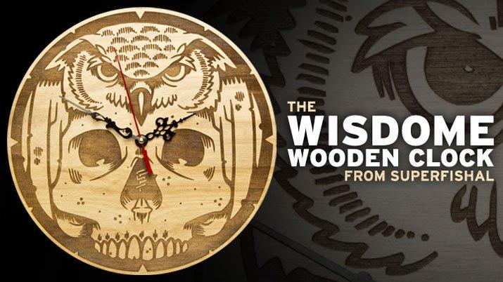 Wisdome Wooden Clock