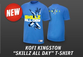 "Kofi Kingston ""Skills All Day"" Authentic T"