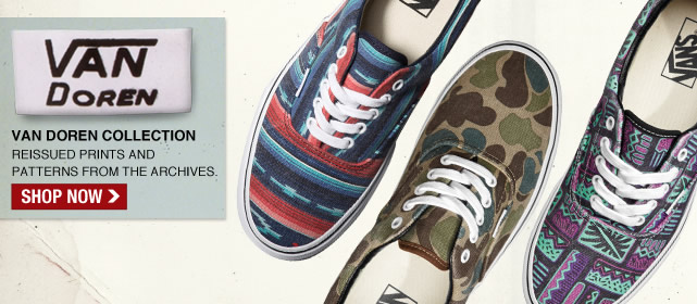 Shop Vans Doren Reissued Prints and Patterns!