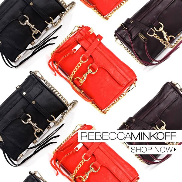 The versatile bag that converts from a crossbody, to shoulder bag, and evening clutch. The Mini MAC by Rebecca Minkoff.