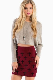 KNIT WIT CROSSES SKIRT 23