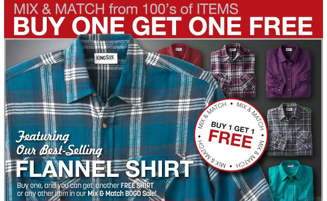 buy one get one free - mix and match from 100's of items - click the link below