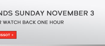 A reminder to set your watch back one hour - Shop Tissot