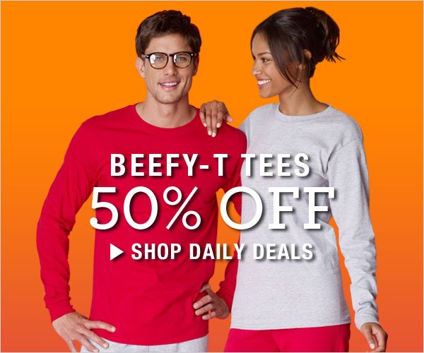 50% Off Beefy-T Tees