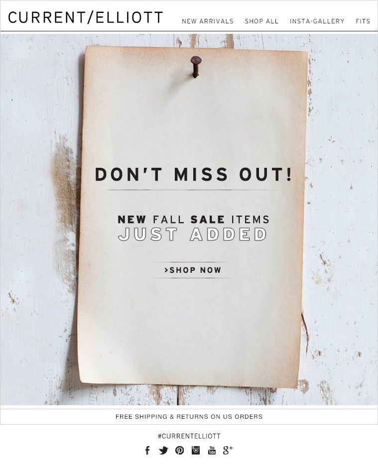 DON'T MISS OUT! NEW FALL SALE ITEMS JUST ADDED >SHOP NOW