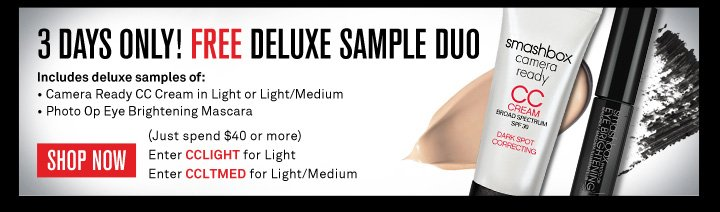 5 Days Only! Free Deluxe Sample Duo