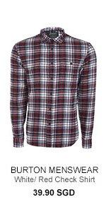 Burton White Red Check Shirt