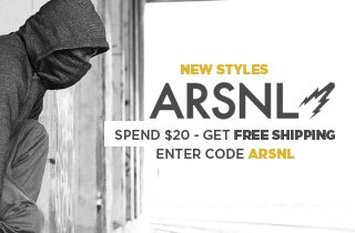 Click to shop ARSNL gear!