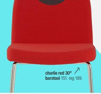 charlie red 30in barstool 151. reg 189.