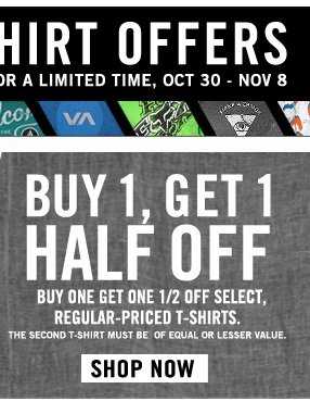 Buy One Get One Half Off!