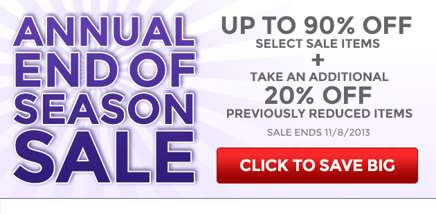 Annual End of Season Sale