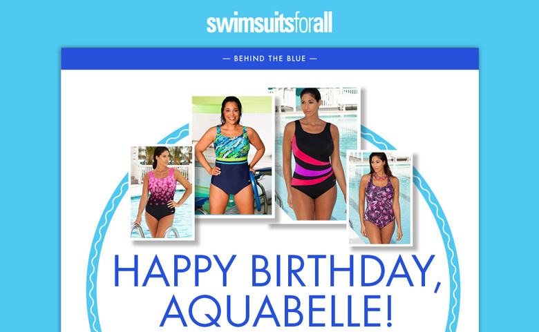 swimsuitsforall - Happy Birthday Aquabelle!