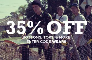Weekend Wears: 35% off all items