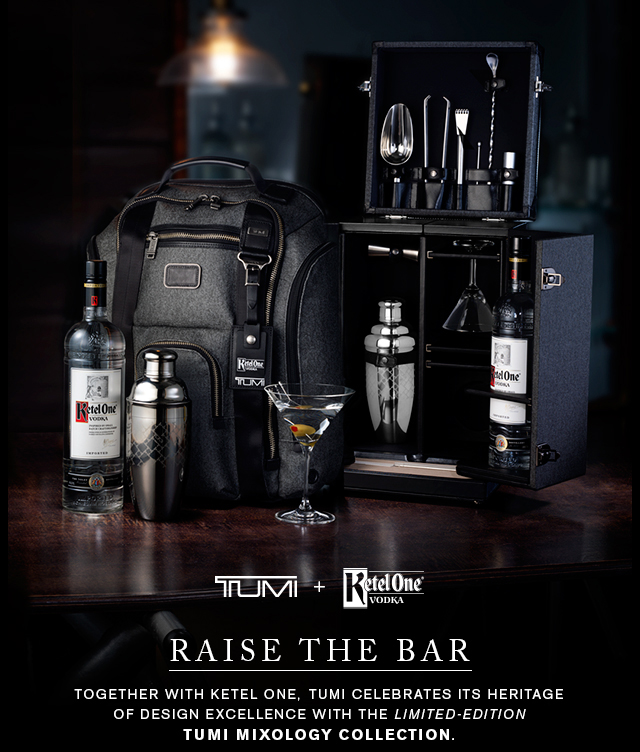TUMI + Ketel One® Vodka - Raise the bar with our limited-edition mixology collection - Shop Now