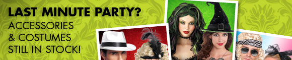 LAST MINUTE PARTY? Accessories & Costumes still in stock!