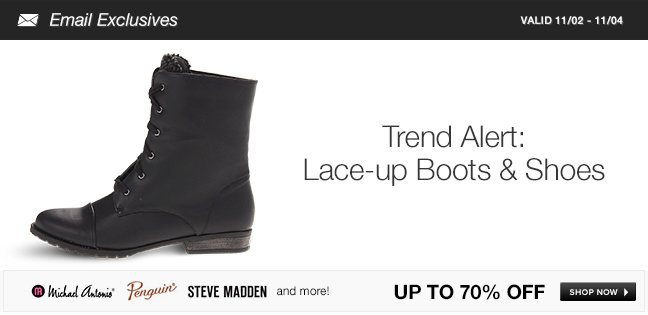 Trend Alert: Lace-up Boots and Shoes