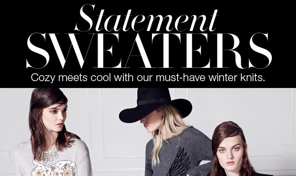STATEMENT SWEATERS