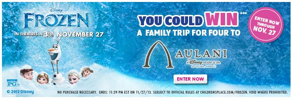 FROZEN Sweepstakes!