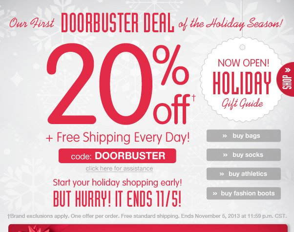 20% Off Doorbuster Deal + Free Shipping!