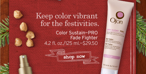 Keep color vibrant for the festivities Color Sustain PRO Fade Fighter SHOP NOW