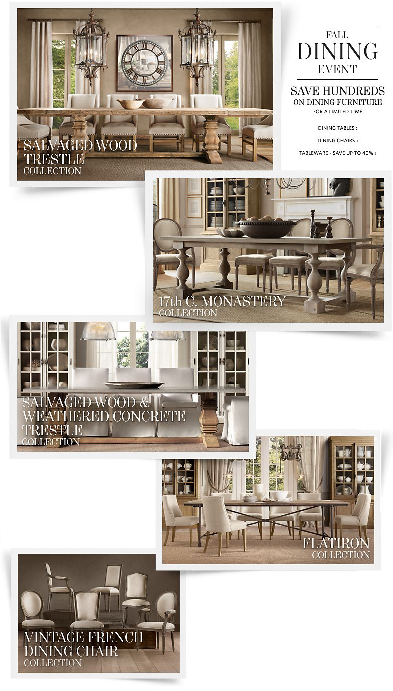 Fall Dining Event - Save Hundreds on Dining Furniture. Save up to 40% on Tableware.