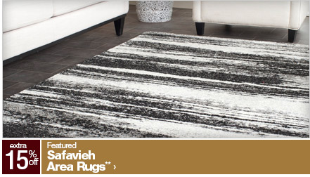 extra 15% off Featured Safavieh Area Rugs**