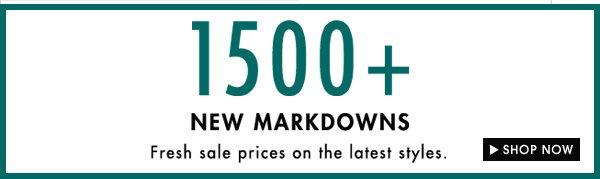 1500+ Markdowns
