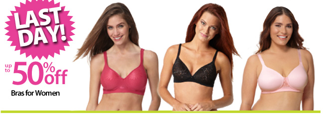 Last Day to Save up to 50% off Bras
