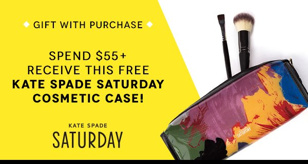 Spend $55+ Recieve This Free Kate Spade Saturday Cosmetic Case