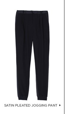 Satin Pleated Jogging Pant