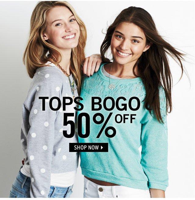 TOPS BOGO 50% OFF