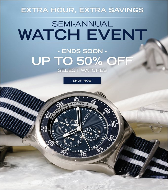 Semi-Annual Watch Event Ends Soon!