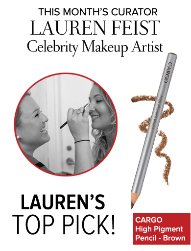 This Month's Curator Lauren Feist Celebrity Makeup Artist Lauren's Top Pick CARGO High Pigment Pencil – Brown