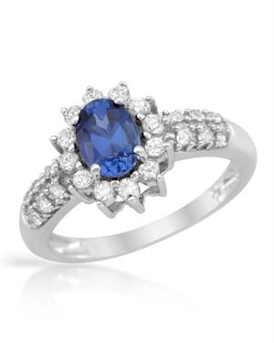 White Gold Ring with 2.00 CTW Sapphires