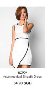 EZRA Asymmetrical Sheath Dress