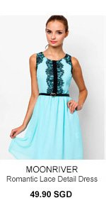 MOONRIVER Romantic Lace Detail Dress
