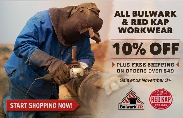 10% Off Bulkwark Clothing & Red Kap Apparel This Week!