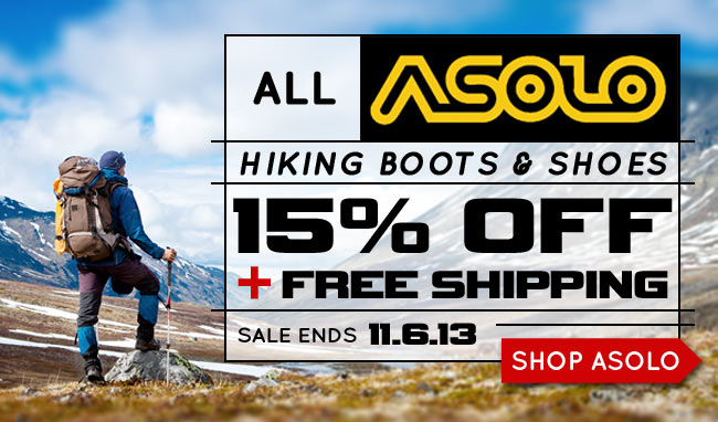 15% Off Asolo Boots & Shoes This Week!