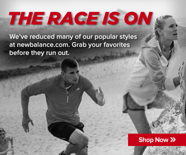 The Race is On + Shop New Balance