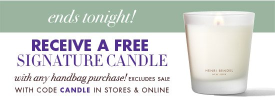RECEIVE A FREE SIGNATURE CANDLE