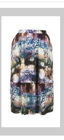 Statement Scenic Print Midi Skirt