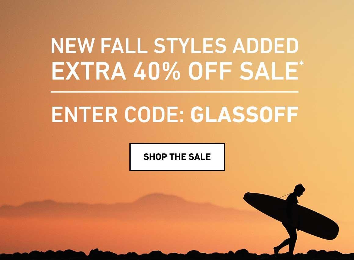 Extra 40% Off Sale! Enter Code: GLASSOFF