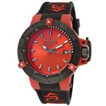 Invicta 10130 Men's Subaqua Noma III Anatomic Red Sunray Dial Black Bezel Dive Watch