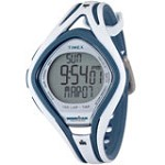 Timex T5K505 Women's Ironman TAP Sleek Triathlon Indiglo 150-Lap White Rubber Strap Chronograph Alarm Digital Watch