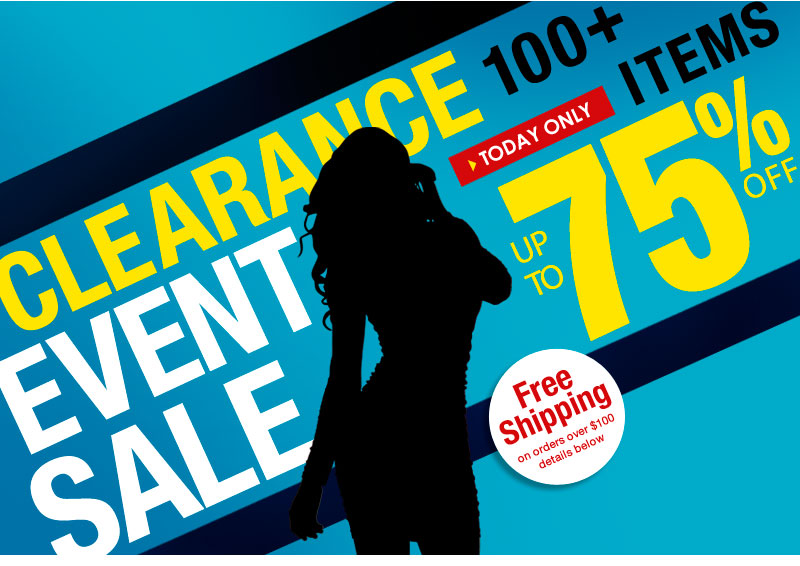 Up to 75% OFF - over 100 items - Sunday Clerance Event! SHOP NOW!