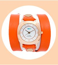 Sunrise Orange-Rose Gold Odyssey Wrap Watch
