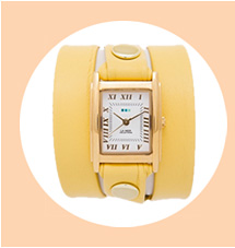 Buttercup Yellow Wrap Watch